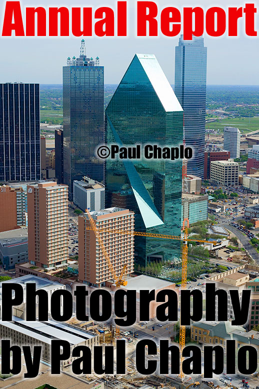 Urban City Annual Report Cities Skylines Aerial Helicopter Photography by Paul Chaplo Annual Report Photographer Dallas Texas TX Digital